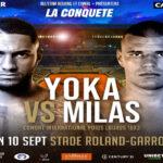 Cartel promocional del evento Tony Yoka vs. Petar Milas
