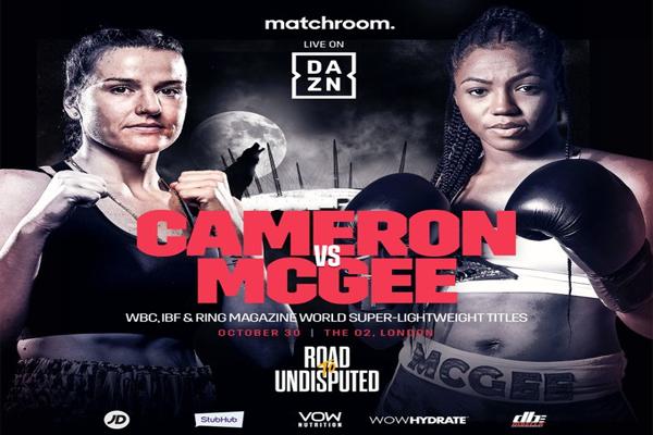 Cartel promocional del evento Chantelle Cameron vs. Mary McGee