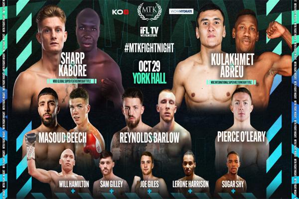 Cartel promocional del evento Archie Sharp vs. Alexis Kabore